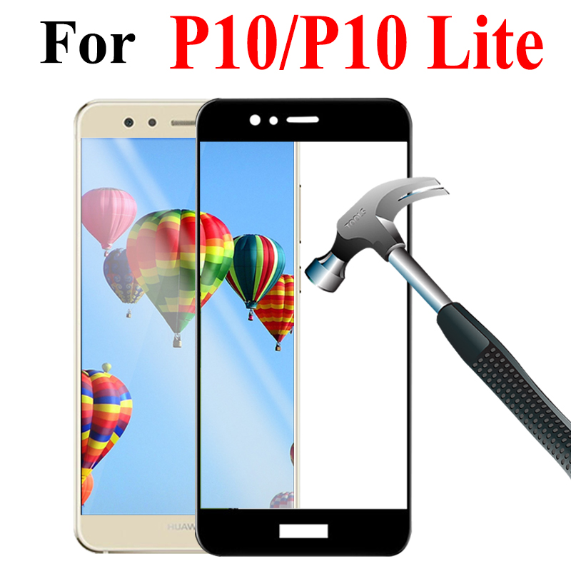 Image 2 - 9H Protective Glass For Huawei P10 Lite Plus P10 Tempered Glass for P10lite P10Plus Huawei p10 p 10lite Screen Protector Film-in Phone Screen Protectors from Cellphones & Telecommunications