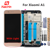 Xiaomi A1 Screen LCD Display Touch Screen With Frame Soft Key Light Digitizer Assembly Replacement For