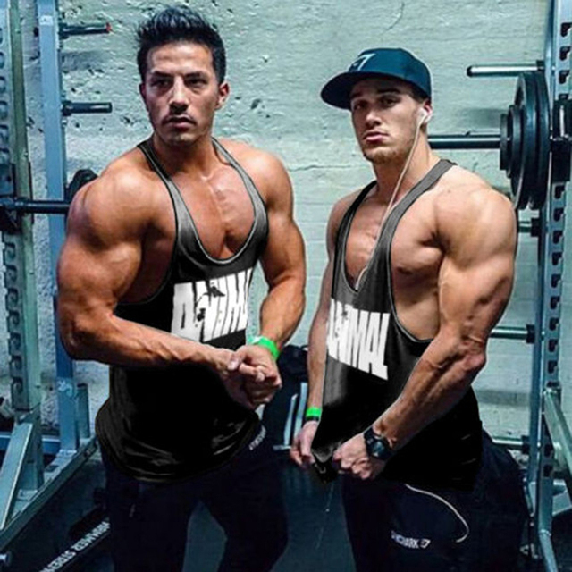 Buy 2017 gyms men 39 s loudmouth stringer for Cheap workout shirts mens