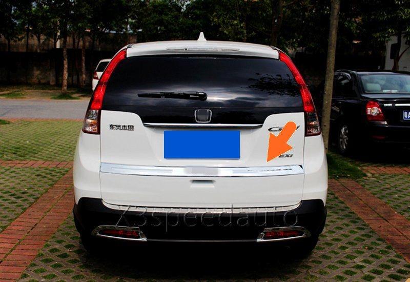 For Honda CRV CR-V 2012-16 Rear Bumper Trunk Lid Cover Trim 1pcs with LOGO Chromed ABS Car-styling