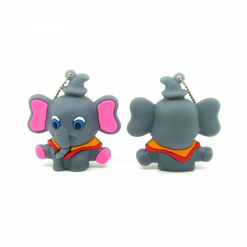 New Arrive Mini Pen Drive Cartoon Animal Elephant Gift Pen Drive 16g 32g 64gb Keychain Cartoon Elephant Usb Flash Drive Pendrive Easy To Use External Storage Usb Flash Drives