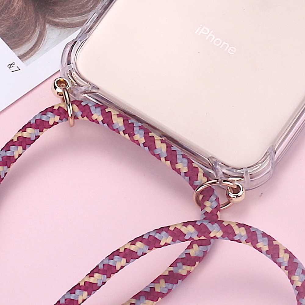 Strap Cord Chain Telefoon Tape Ketting Lanyard Mobiele Telefoon Case voor Carry Cover Case Hangen iPhone 11 Pro XS Max XR X 7Plus 8Plus