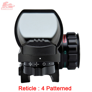 Image 2 - Holographic Red/Green Dot Sight Scope 4 Reticle Reflex Sighting Hunt Optics Tactical Airsoft Riflescope 20mm Rail Mount on Rifle