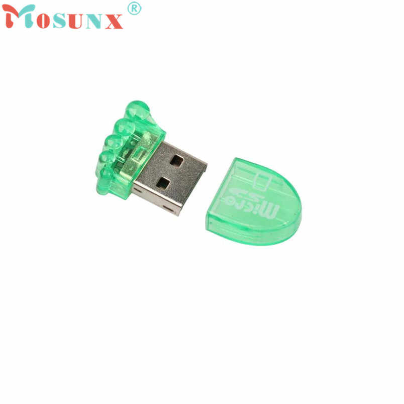 Mini USB 2.0 ultra-rapide fiable Micro SD TF T-Flash adaptateur de lecteur de carte mémoire facile à brancher dispositif d'installation