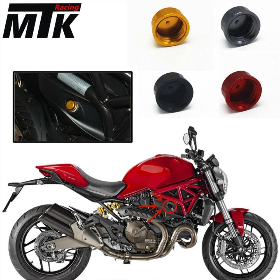 MTKRACING For ducati monster 821 696 796 2013-2016  Motorcycle Aluminum Rear Brake Reservoir Fluid Cover Cap