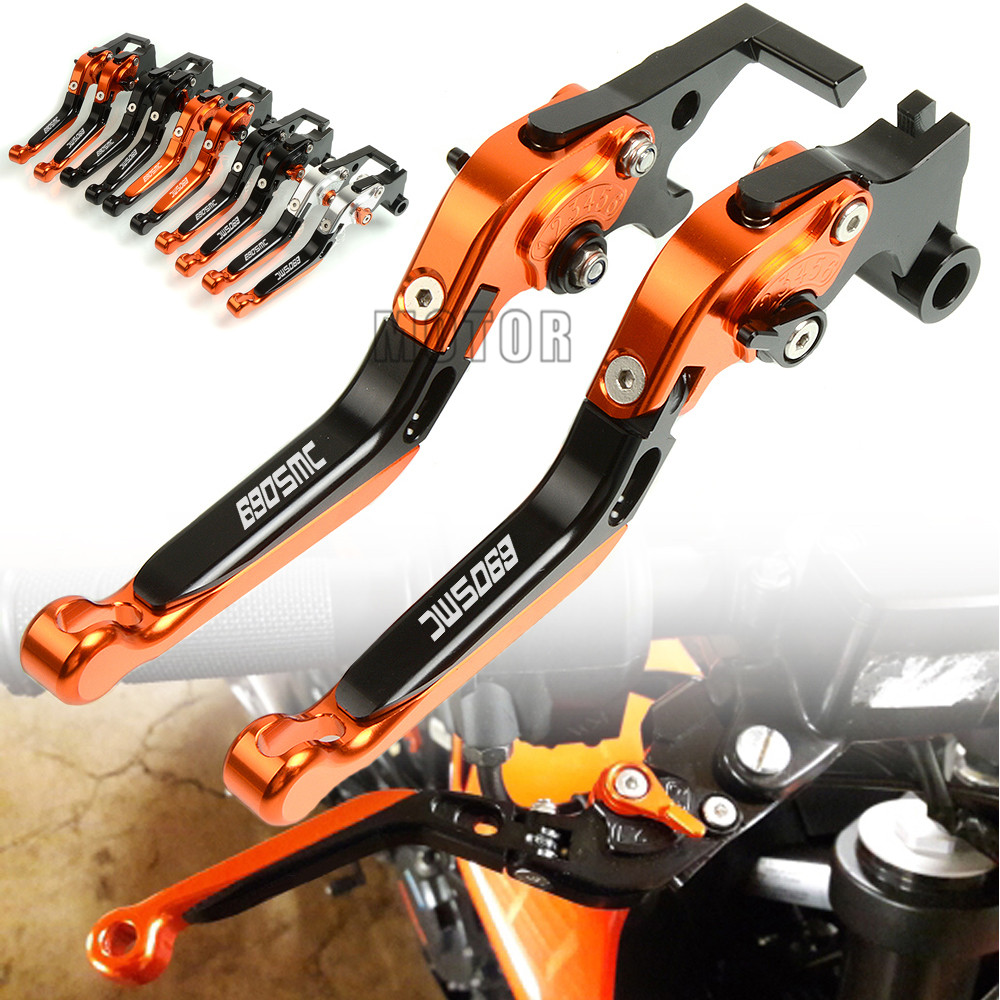 For KTM 690 SMCR 2012 2017 690 SMC 2008 2011 CNC Aluminum Motorcycle Adjustable Folding Brake