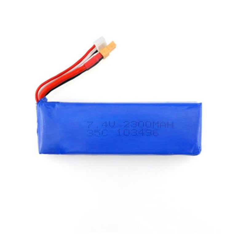 MJX B6 Bugs 6 RC Quadcopter Spare Parts 7.4V 2300mAH 35C Lipo Battery Upgraded Battery for FOV\\PV Drone Accessories Accs 3pcs battery and european regulation charger with 1 cable 3 line for mjx b3 helicopter 7 4v 1800mah 25c aircraft parts