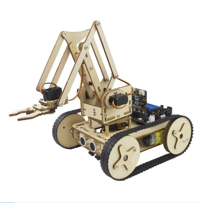 Ha Condotto La Luce Fai Da Te Microbit Robot Scheda Di Espansione Robot Braccio Trolley Stile (In) Alla Moda;