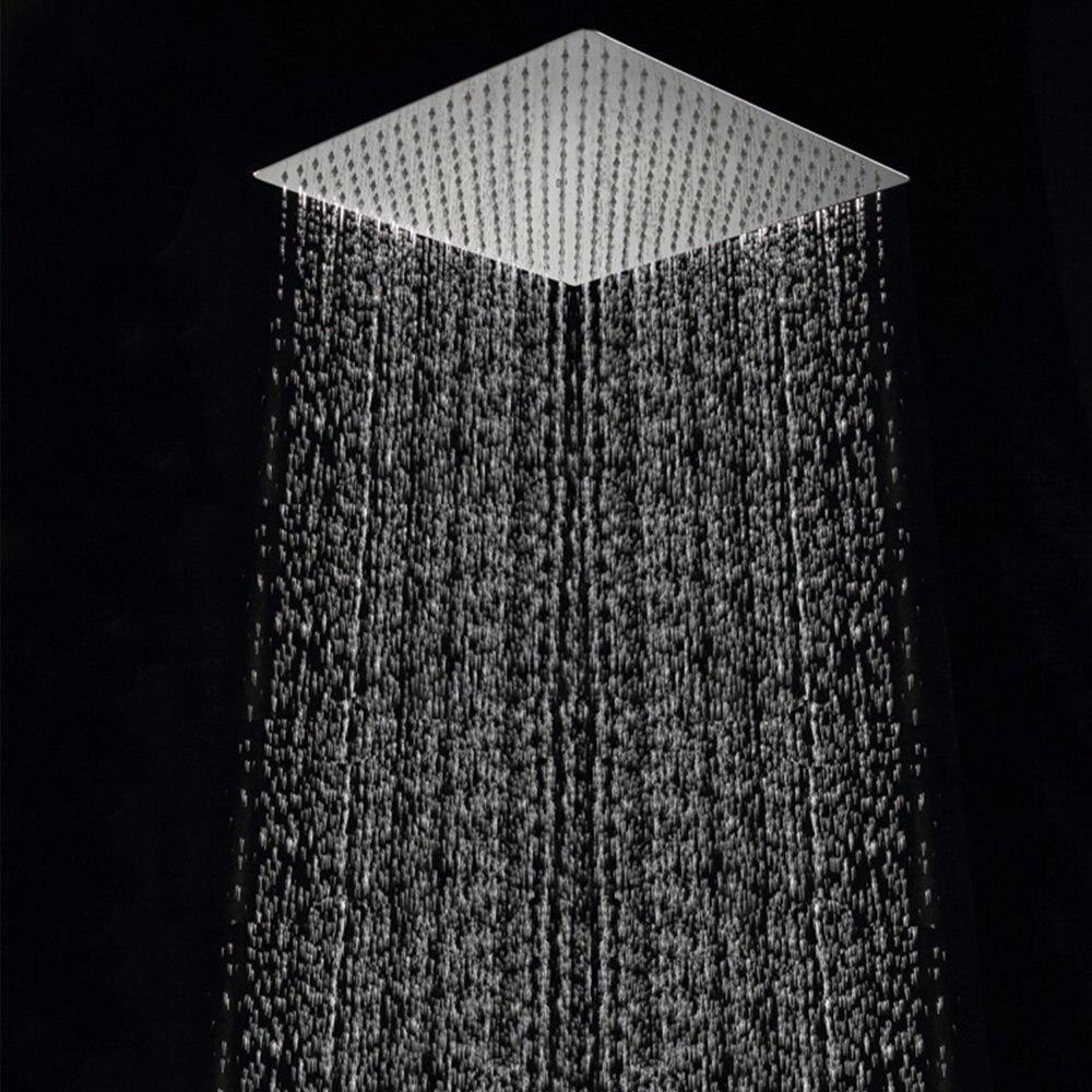 Хром 40 см * 40 см дождевая насадка для душа 16 дюймов потолочная дождевая Душевая насадка 16 дюймов