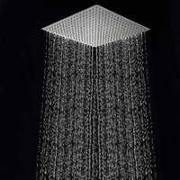 Chrome 40cm * 40cm Rainfall Shower Head 16 inch Ceiling Rain Shower Rain Shower Head 16 inch