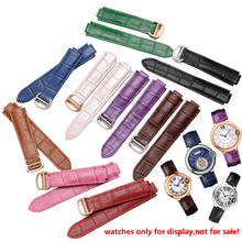 คุณภาพสีของแท้หนังนาฬิกาหัวเข็มขัดเปลี่ยนสายหนังสร้อยข้อมือFit Cartierสายรัดข้อมือ