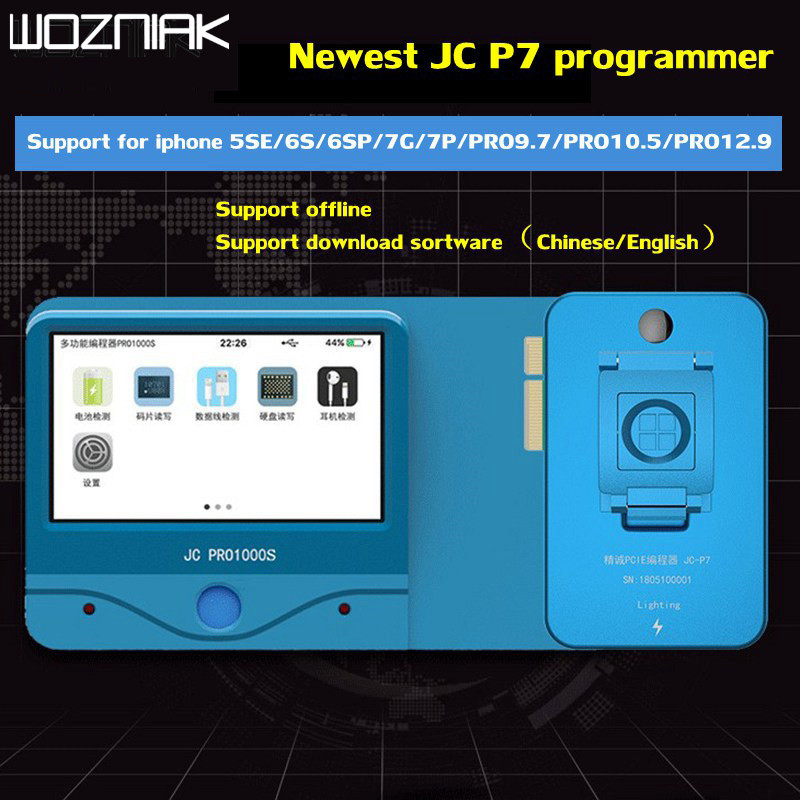 JC Pro1000S Multi-Function HDD NAND Programmer JC P7pro NAND Read Write Error Remove For iPhone 5SE 6S 6SP 7 7P iPad Pro