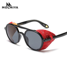 2019 New Steampunk Men Sunglasses With Side Shields Summer S