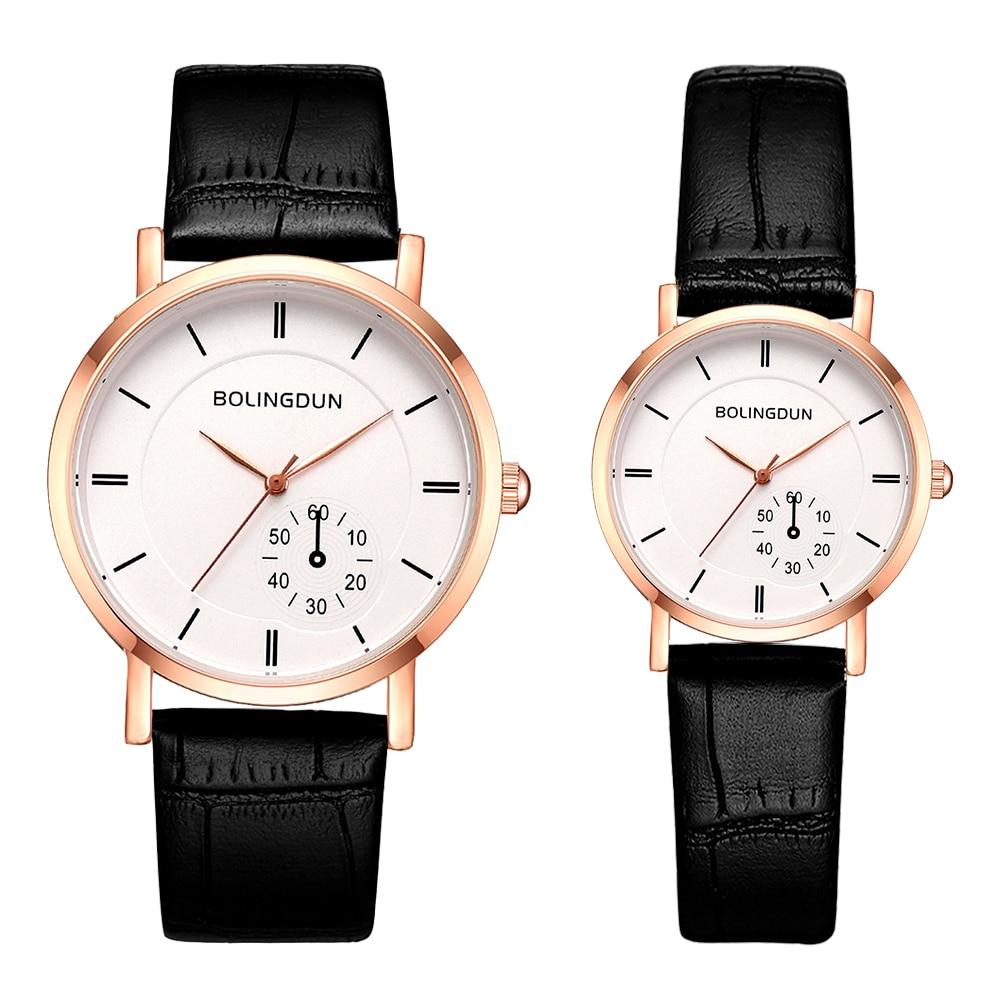 Women Leather Brand Watches Luxury Ladies Analog Sports Quartz Clock Men Dress Clock Couple Watch Relogio Masculino