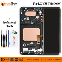 6.0 inch 100% test Touch Panel For LG V35 ThinQ LCD Display Touch Screen with Frame Digitizer Display Mobile Phone Repair Parts