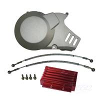 Oil Cooler Radiator & Engine Stator Cover For 150cc 160cc Pit Dirt Motor Bike