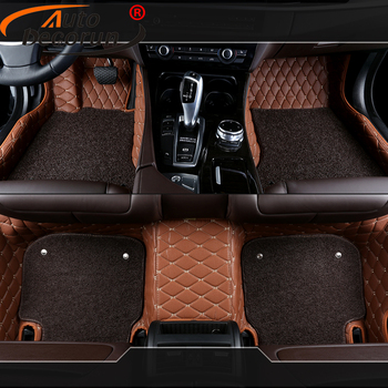 AutoDecorun Customized Made Car Floor Mats For Ford Explorer Edge F150 Car Mat PVC Leather Carpet Sets Car Styling Accessories