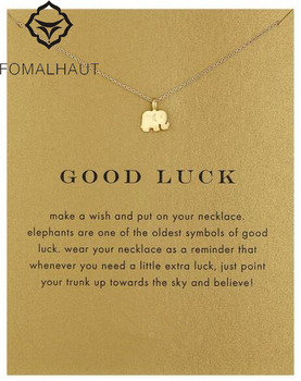 Sparkling good lucky elephant pendant necklace clavicle chains statement necklace women fomalhaut jewelry.jpg 350x350