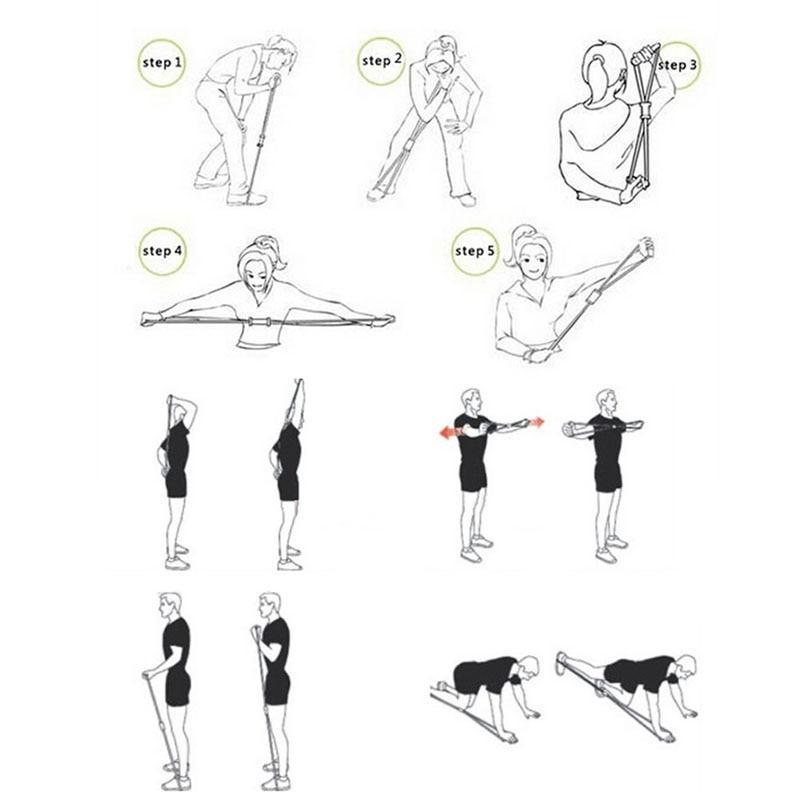 Новая напряженность упражнения сопротивление Тренажерный зал Группа прочность Вес тренировки Йога