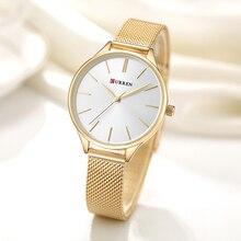 Curren Для женщин Часы Роскошные Пару платье наручные часы Relogio feminino часы для Для женщин Montre Femme кварцевые женские часы для любителей