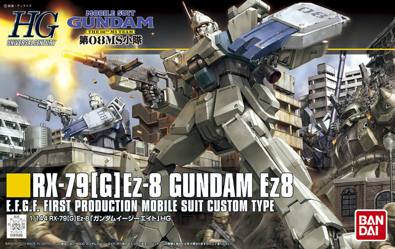 1PCS Bandai HGUC 155 EZ8 RX-79[G] EZ-8 gundam Mobile Suit Assembly Model Kits lbx toys Anime action figure TOYS Gunpla cтеппер bs 803 bla b ez