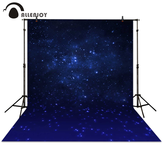 Allenjoy Photography Backdrop Galaxy Night Sky Stars Shiny Background Dark Baby Shower