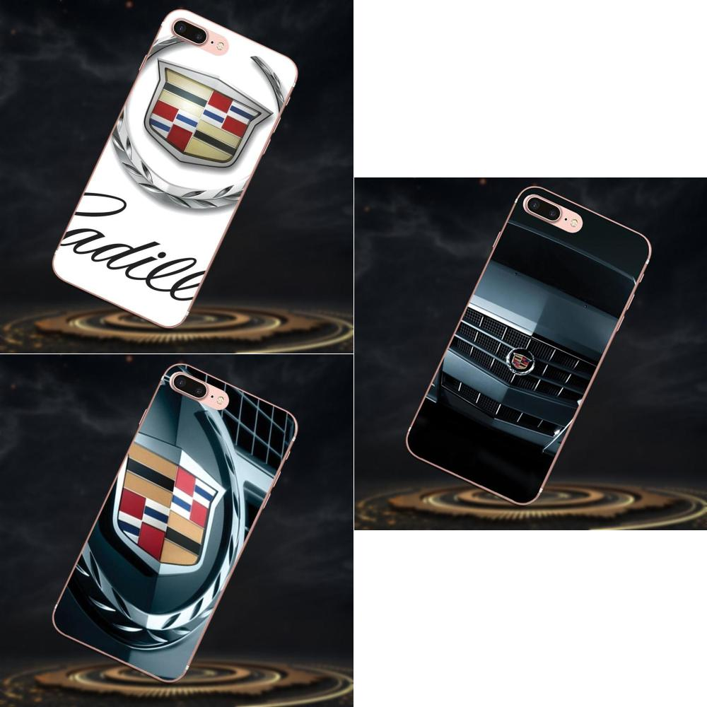 Stilvolle Luxus Sport Auto Cadillac <font><b>Logo</b></font> Für Apple <font><b>iPhone</b></font> X XS Max XR 4 4 S 5 5C 5 S SE 6 6 S 7 8 Plus TPU Deckt Fall image