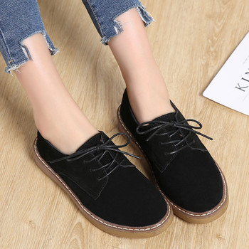 shoes women leather  Sneakers Oxford Shoes Leather Suede Lace Up Boat Shoe Round Toe  casual shoes women flats Shoe#NFA