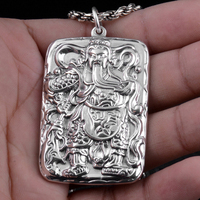 925 Sterling Silver Feather Pendant S925 Solid Thai Silver Pendants 1 pieces bring Good Luck Pendant Men Jewelry HYP27