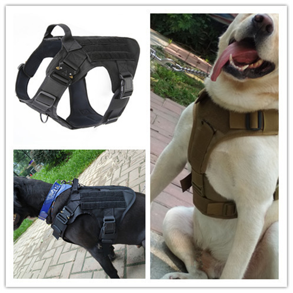Tactical Police K9 Military 1050D Nylon Molle System Dog Training Dog Harness Hunting Vest Clothes Load Bearing Harness spanker 1050d nylon dog clothes outdoor training clothes for dogs military tactical fighting dog vest accessories pets universal