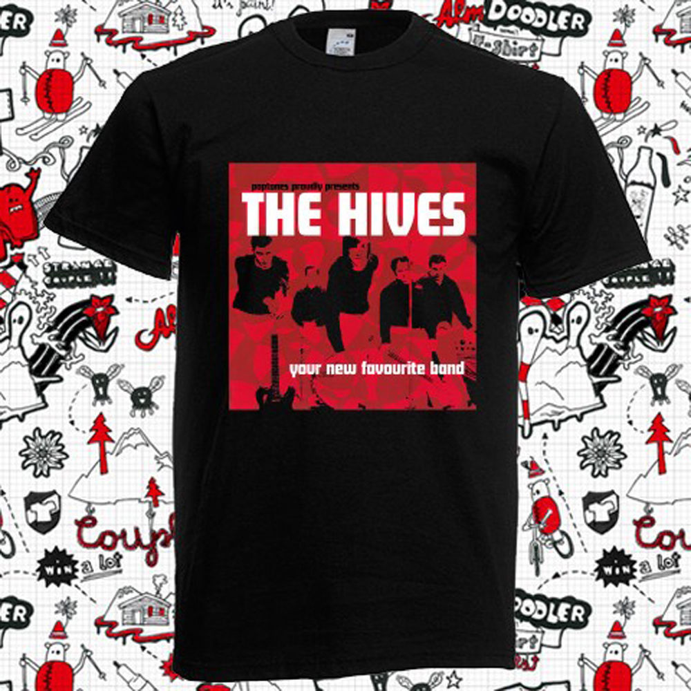 New The Hives - Your New Favourite Band Album Mens Black T-Shirt Size S-5XL