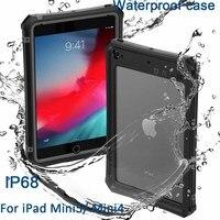 IP68 Waterdichte Case Cover Voor ipad mini 4 5 2019 Case PC + Siliconen tpu Transparant voor Apple ipad mini 5 4 IM401 shockproof