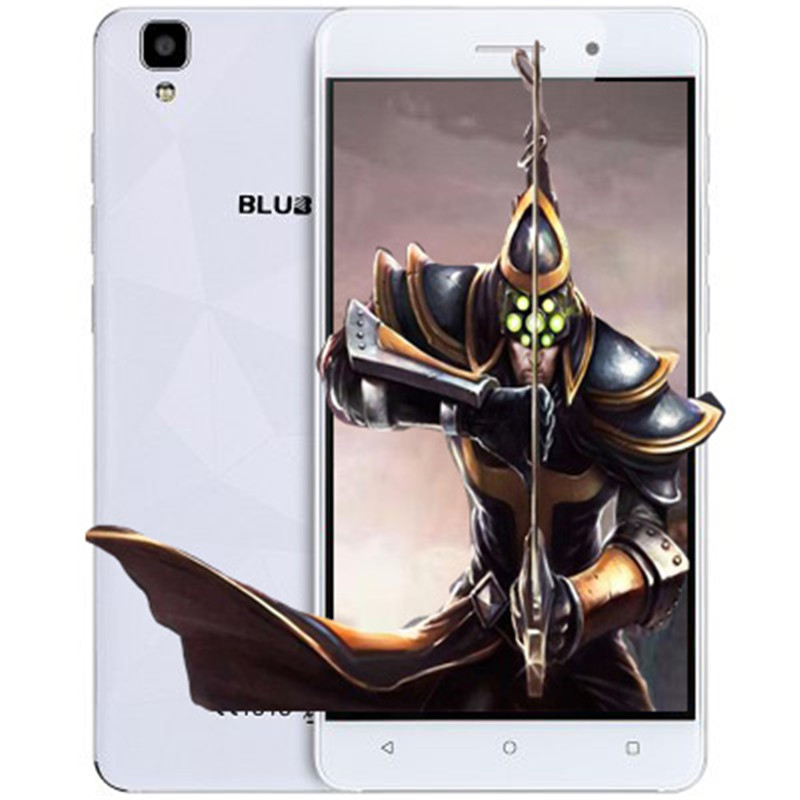Maya Bluboo originais Android 6.0 5.5 polegadas 3G Telefone Móvel MTK6580 Quad Core 1.3 GHz 2 GB RAM 16 GB ROM 13.0MP + 8.0MP 1280*720 3000 mAh
