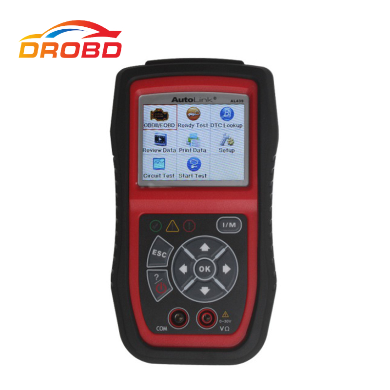 100% Original Autel AL439 Autolink Scanner & Color Screen Professional OBDII Electrical Test Tool Diagnostic tool Free shipping 100% original autel autolink al519 code reader obdii eobd can scan tool updated online autolink al519 scanner free shipping