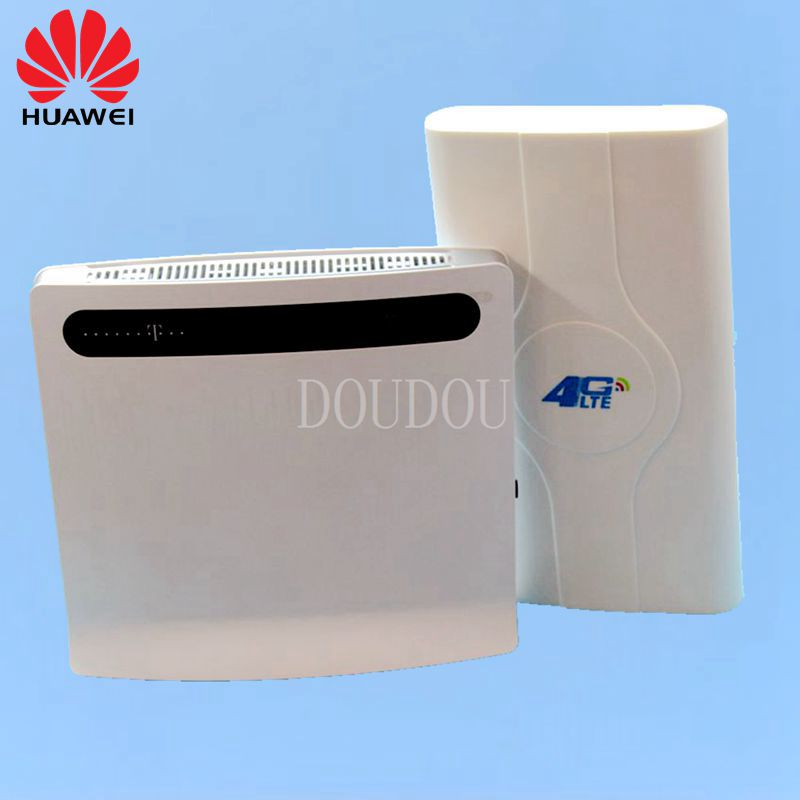 Unlocked Huawei B593 B593u-12 Plus Antenna 4G LTE 100Mbps CPE Router with Sim CardSlot 4G LTE WiFi Router with 4 Lan Port PKB310 lot of 100pcs huawei b593u 12 4g lte wireless cpe router gateway 100mbps wifi hotspot sim card 2pcs b593 4g antenna dhl shipping