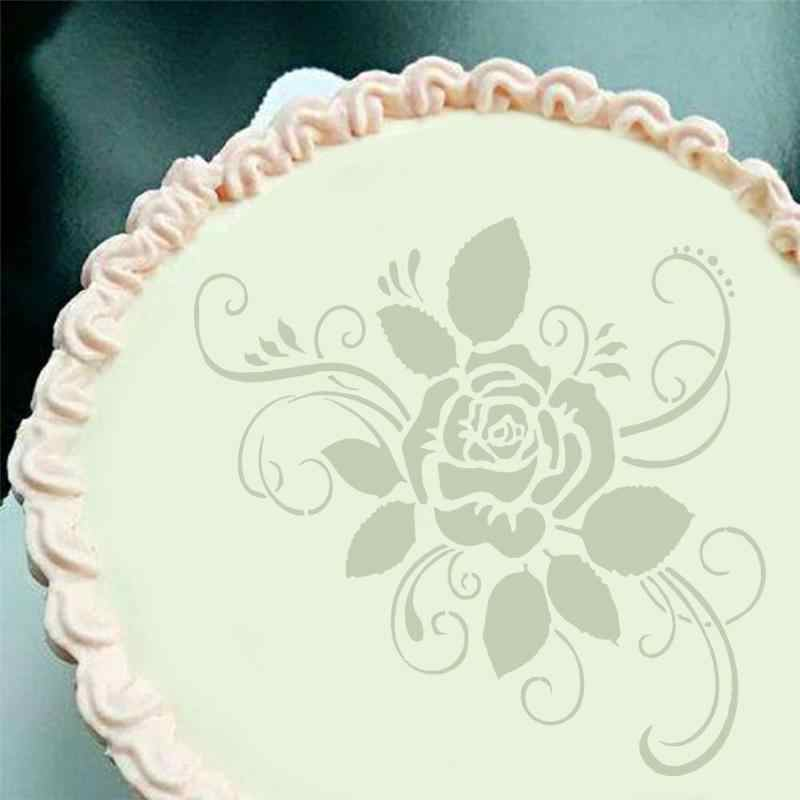 Eco Friendly Plástico Flores Bolo Stencils Stencils Spray Flor Molde Do Bolo de Aniversário Decoração Ferramentas de Molde DIY Padaria 1 Z