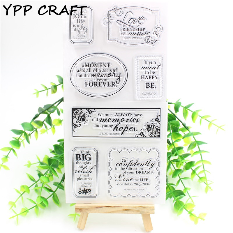 YPP CRAFT Love Clear Silicone Stamp for DIY scrapbooking/photo album Decorative craft christmas holiday wishes clear silicone rubber stamp for diy scrapbooking photo album decorative craft clear stamp chapter