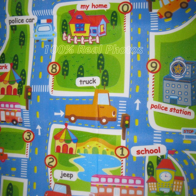 160CM Kids Play Mat Baby Floor Mat Crawling Mat Children Play Carpet Kids Rugs and Carpet City Traffic Kids Play Rug PX24S | Happy Baby Mama