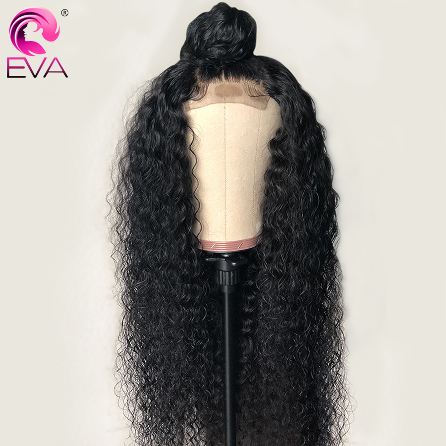 Eva 150% Density 13x6 Glueless Lace Front Human Hair Wigs Pre Plucked With Baby Hair Brazilian Virgin Hair Curly Lace Front Wig