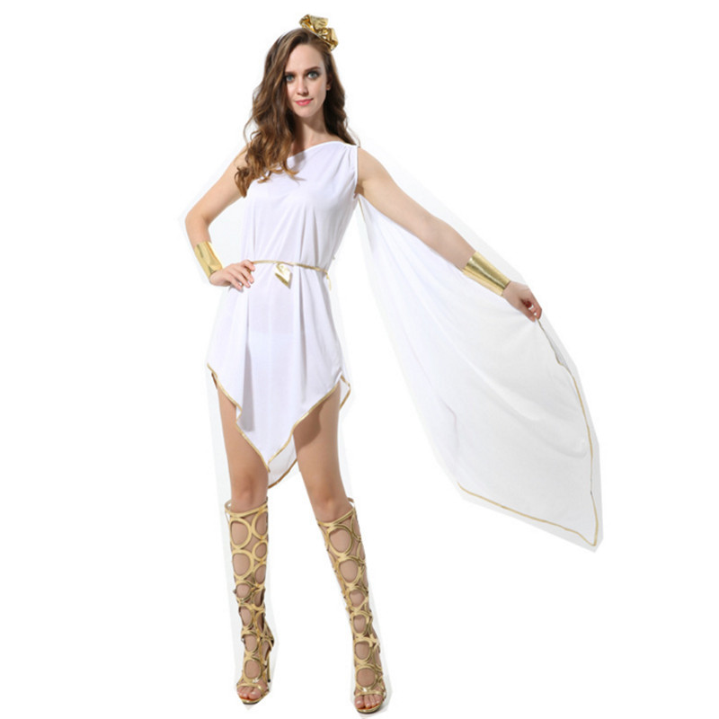 new Greece Princess Costume Cleopatra Masquerade Party Dress Athena Goddess Cosplay clothing Adult Roman Queen Costume Halloween