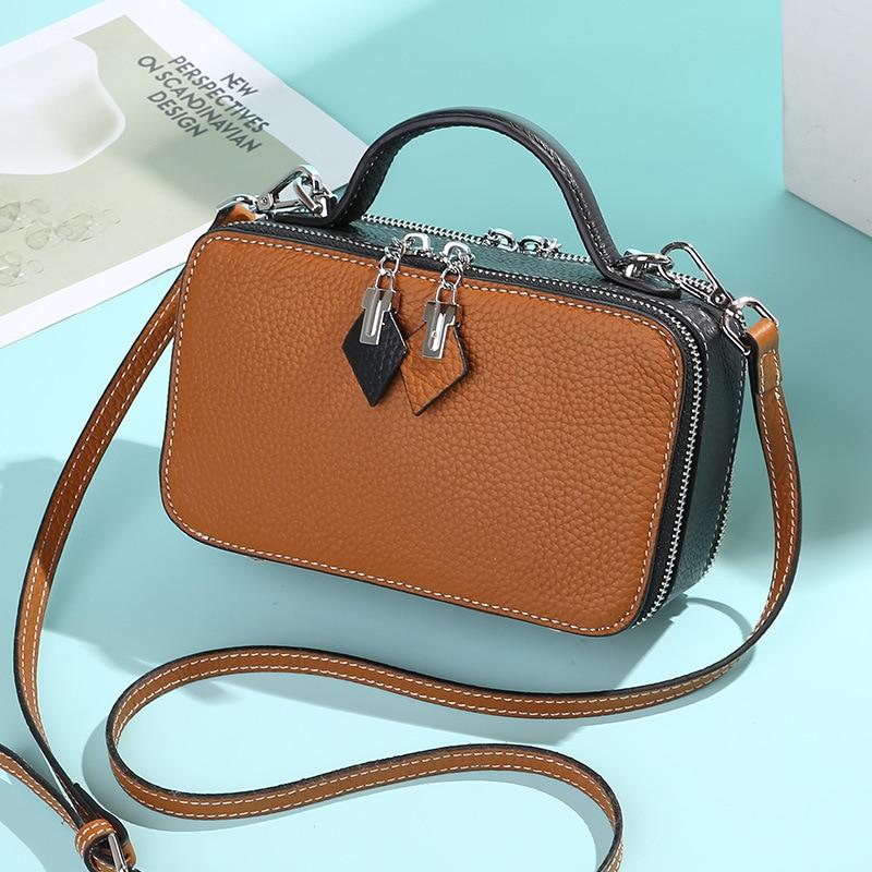 968407f8c4a Bestbaoli 100%Genuine Leather Bags For Women Fashion Luxury Handbags Women  Bag Designer Small Messenger