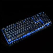 Del Three Color Backlight Multimedia Ergonomic Wired Gaming Keyboard Mar09