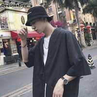 2020 mens kimono japanese clothes streetwear dragon printed casual kimonos jackets harajuku japan style cardigan outwear