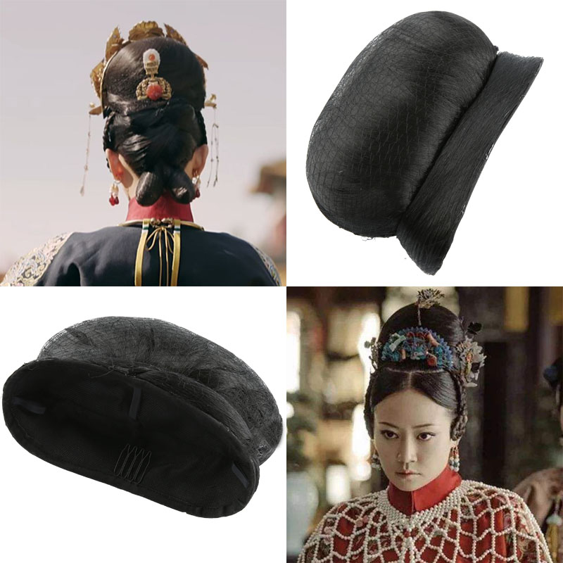 10x12cm Vintage Queen Hair Cosplay Vintage Hair Accessories Qing Dynasty Hair For Women Shaped Halloween Cosplay