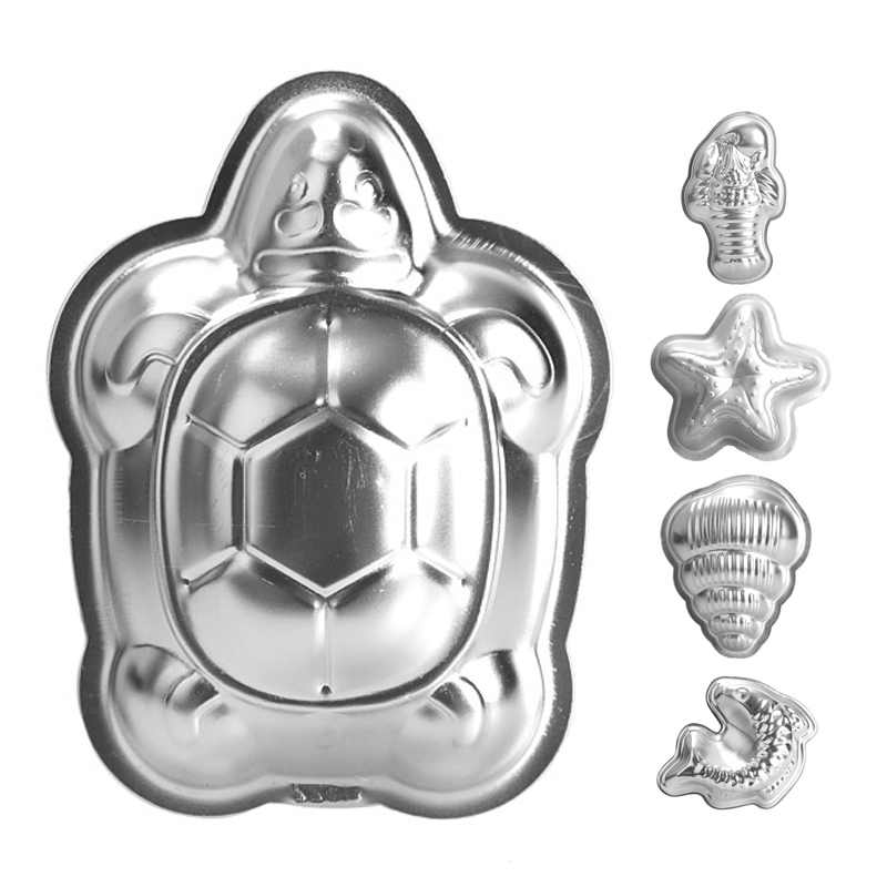 Newly Aluminum Little Turtle Shape Cake Pan Baking Mold Cake Mold Chocolate Mould