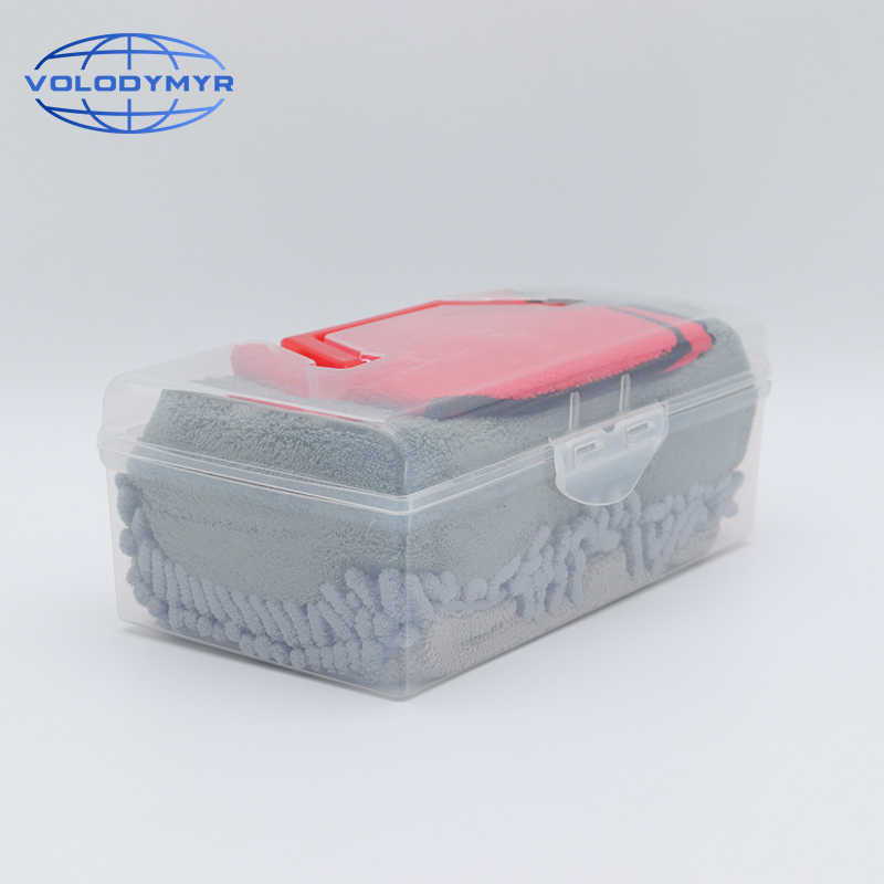 Glove Mitt Washing Brush Car Cleaning Tools Coral Sponge Pad Towel Microfiber
