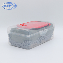 車のクリーニングキットスポンジパッドマイクロファイバータオル洗浄ミットグローブツールブラシ自動ディテール