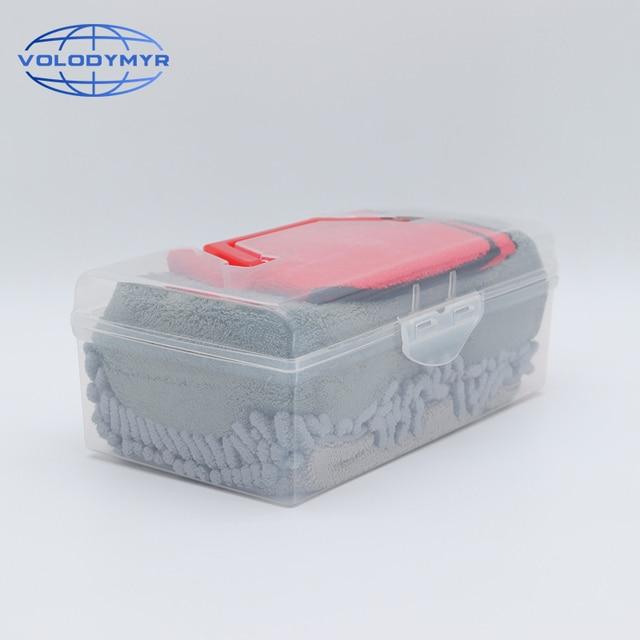 Auto Kit di Pulizia Spugna Pad Asciugamano In Microfibra Wash Mitt Glove Strumenti Pennello Auto Detailing