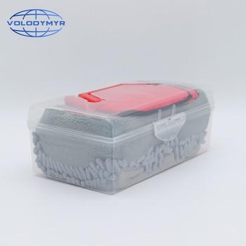 Car Cleaning Kit Sponge Pad Microfiber Towel Wash Mitt Glove Tools Brush Auto Detailing