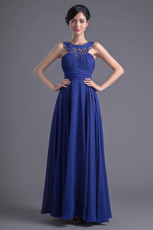 Elegant Royal Blue Halter Neck   Bridesmaid     Dresses   Customized Backless   Dress   for Wedding Party Vestidos de Madrinha